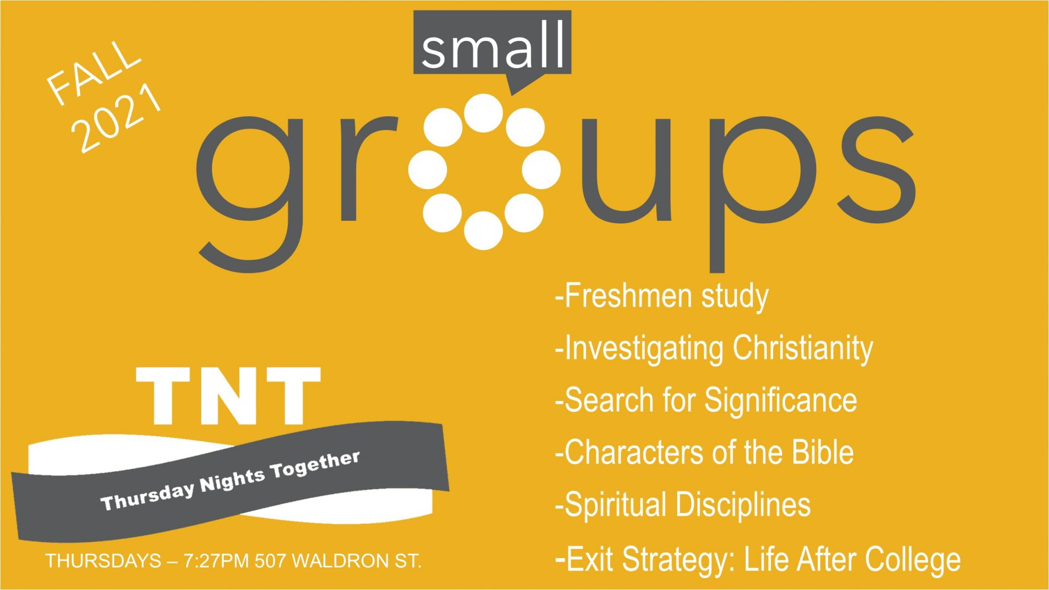 small groups fl21